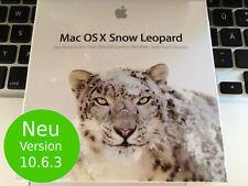 NEU Apple Mac OS X 10.6 Snow Leopard Vollversion  - für MAC mit INTEL-Prozessor