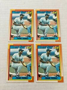 Frank Thomas 1990 Topps Rookie #414 - 4 Card Lot Chicago White Sox
