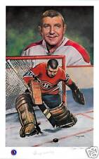 Gump Worsley Autographed Legends of Hockey Lithograph