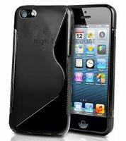 Housse etui coque pochette silicone gel pour Apple iPhone 4 4S 5 + film écran