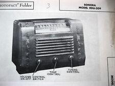 SONORA RDU-209 RADIO PHOTOFACT