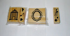 Michaels Rubber Stamps 6 Total Bird Cage Mirror Candy Bird Heart Note 58I