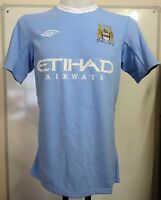 MANCHESTER CITY 2009/10 S/S HOME SHIRT BY UMBRO SIZE 44 INCH CHEST BRAND NEW
