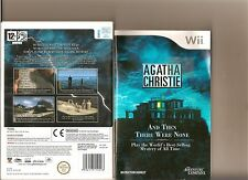 AGATHA CHRISTIE AND THEN THERE WERE NONE NINTENDO WII POINT CLICK ADVENTURE