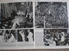 Photo article wedding Princess Irene of Netherlands Prince Carlos of Parma 1964