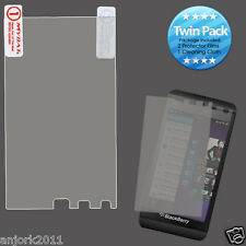 BlackBerry Z10 Laguna Ultra Clear Screen Protector+Cleaning Cloth Twin Pack