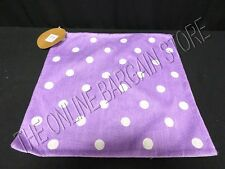 "Pottery Barn Teen Polka Dot DOTTIE Toss Organic Pillow Cover Purple 16"""