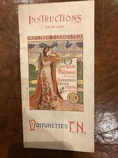 Sales brochure Voiturettes FN 1900.