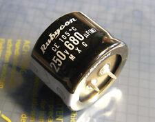2x 680uF 250V 20% 105° 35x25mm snap in, Rubycon 250MXG680MEFCSN35X25