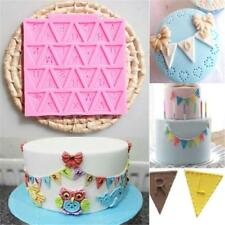 Letter Flag Silicone Fondant Mold Cake Chocolate Decorating Mould Baking Tool -S