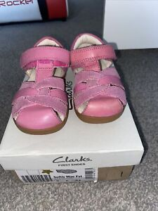 Girls Clarks Shoes Size 5 Infant