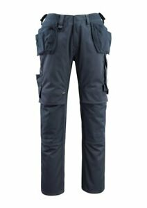 Mascot BREMEN size 82C48 & measured blue work trousers Holster & Kneepad Pockets