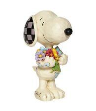 Peanuts - Snoopy with Flowers Jim Shore Mini Figurine 6007962