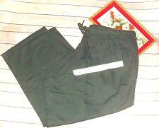 Woman Within Plus Size 5X 32W Black Casual Drawstring Pants 100% Cotton EEUC
