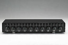 10 Zone 2 4 6 8 Pair Speaker Selector Switch Switcher With Volume Level Control