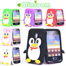 COVER CASE CUSTODIA PINGUINO SAMSUNG S7500 GALAXY ACE PLUS SILICONE MORBIDO