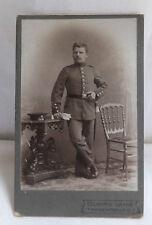 Militaria Cabinet Foto Soldat Uniform um 1900 Regensburg