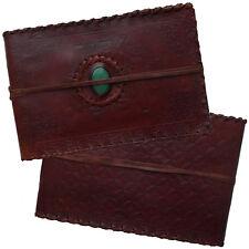 Real Leather Handmade Photo Album Scrapbook Elephant Green Stone 2nd's Quality