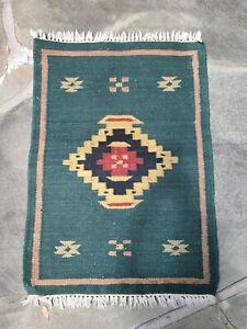Handmade Navajo Rug,Wool Jute Handwoven Rug Dari,Traditional Kilim Dhurrie