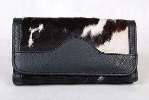 100% Real Cowhide Wallet Real Leather Hair ON Western Ladies Wallets  SA-7113