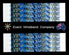 100 x VIP Bling Tyvek Wristbands, party, security, event, school wristbands