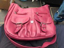 Joshua Taylor Real Cuero Bolso señoras de rosa
