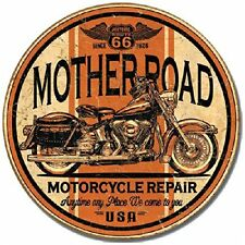 Mother Road Vintage Tin Sign Motorcycle Garage Tavern Man Cave
