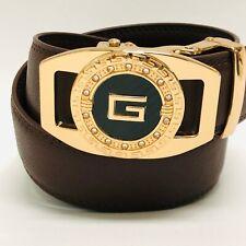 Correas Cinturones Piel Moderno Sin Hoyos Hombre Cuero Caballeros Brown Belt NEW