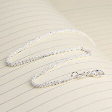 Beauty Women Girls 925 Sterling Silver Plated Shining Chain Anklets Bracelet