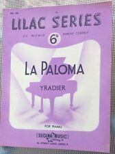 Rare Vintage Original Uk Sheet Music, La Paloma, Piano, Lilac Series