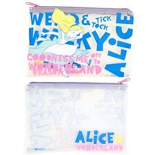 Disney Alice in Wonderland Quote Clear Pencil Case Cosmetic Tote Bag Loungefly