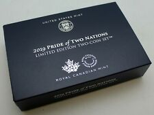 Case-(20) 2019 Pride of Two Nations Silver American Eagle & Maple Enhanced Proof