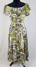 Grace Elements women L off the shoulder floral dress calf length