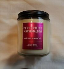 NEW Bath & Body Works White Barn Peppermint Marshmallow 7 Oz Scented Candle