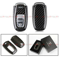 LUXURY CARBON FIBER SNAP ON CASE FOR AUDI A3 A4 A5 A6 A6 A7 S4 S5 S7 RS KEY FOB