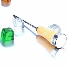 New Stainless Steel Ice Pick Punch with Wooden Handle Kitchen Bar Tools
