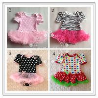 Newborn Baby Girl Top Skirt Tutu Skirt Ruffle Lace Outfit Photo Costume