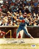 Pete Rose Psa Dna Cert Autograph Phillies 8x10 Photo  Hand Signed Authentic