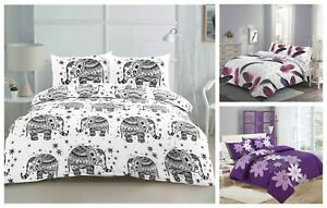 Printed Duvet Cover Quilt With Pillow Cases Single Double King Super King Size