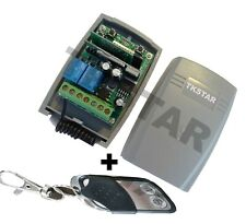 TKStar Wifi Wlan 433Mhz Funk Empfänger Schalter Taster Garagentor + Handsender