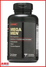 GNC MEGA MEN MULTIVITAMIN, 180 CAPLETS