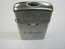 "Vintage 1960s Sarome butane Gas lighter ""E. Pitman"" leaks butane sparks nicely"