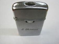 "Vintage 1960s Sarome butane Gas lighter ""E. Pitman"" leaks butane sparks nicely"