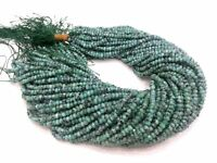 "5 Strands Emerald Chalcedony Rondelle 4-4.5mm,13""inch Faceted Gemstone Beads"