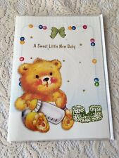 Having a Baby Musical Greeting Card Brown Bear Stars Bow New Parents Baby Shower