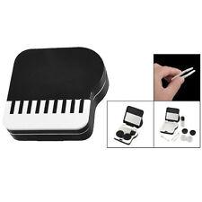 Piano Design Invisible Contact Lenses Box Case-Black&White