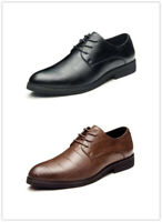 Men Business Dress Formal Leather Shoes Oxfords Loafers Lace Up Pointy Toe New
