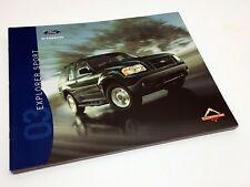2003 Ford Explorer Sport XLS XLT Brochure