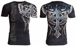 Xtreme Couture Affliction Men's T-Shirt PANTHER Black Tattoo Biker S-5XL