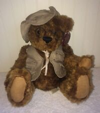 Teddy's Teddy Bear LE Plush 100th Anniversary Dan Dee Vest Glasses Arms Move 9""